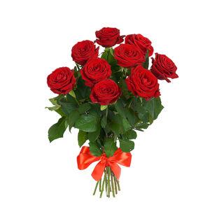 Букет из 9 красных роз премиум